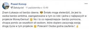 """""""Łukasz Cichocki to osoba godna zaufania!"""" ~ Paweł Konop"""